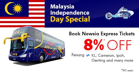 Malaysia National Day Flash Sale 8 Off On Newsia Express Busonlineticket Com