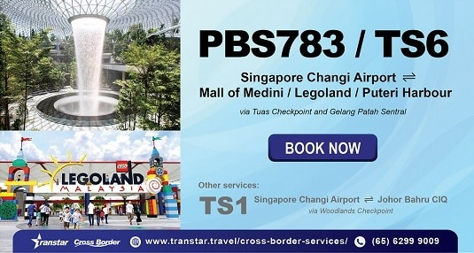 [Sponsored] Shuttle bus between Singapore Changi Airport and JB CIQ