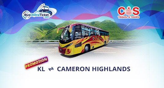 Enjoy Special Offers for Bus Between Kuala Lumpur and Cameron Highlands with CS Travel