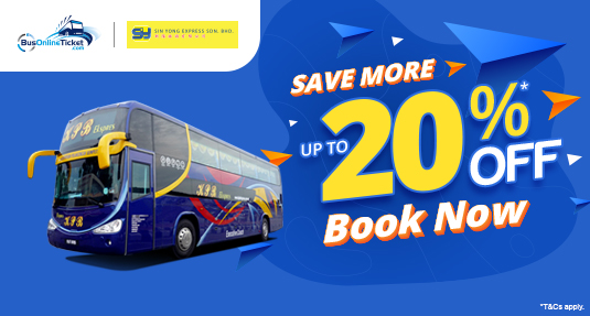 Enjoy up to 20% OFF on Sin Yong Express (KPB Express) Bus Tickets Online!