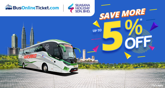 Suasana Holiday Bus Ticket Promo up to 5% OFF