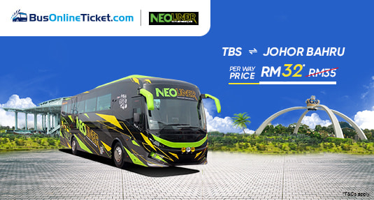 Neoliner Bus from TBS to Larkin at RM32